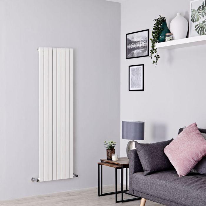 Milano Capri - White Flat Panel Vertical Designer Radiator - 1600mm x 472mm
