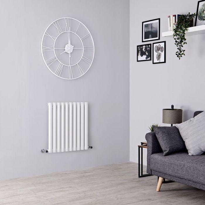 Milano Aruba - White Horizontal Designer Radiator - 635mm x 595mm