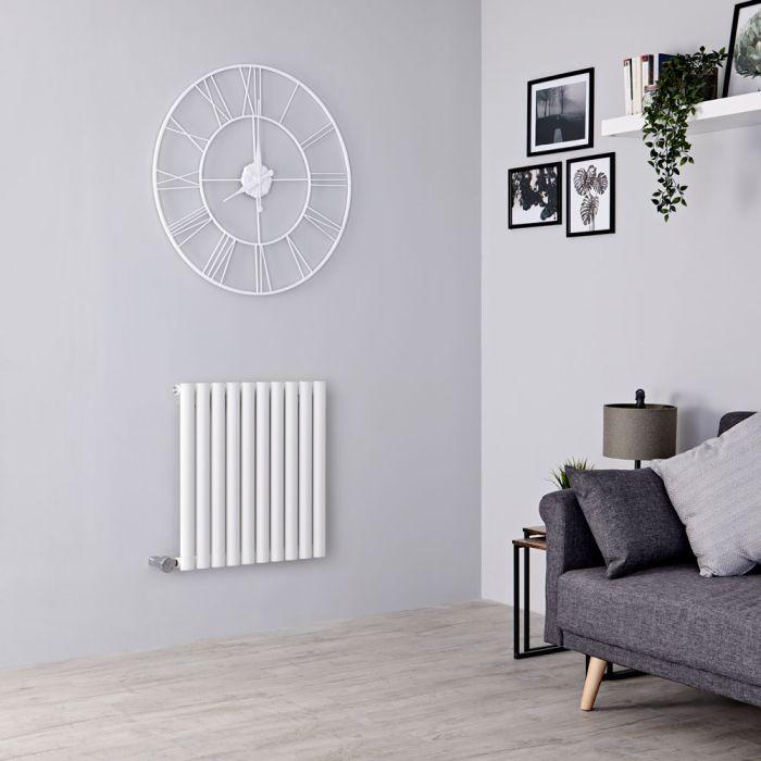 Milano Aruba Electric - White Horizontal Designer Radiator - 635mm x 595mm