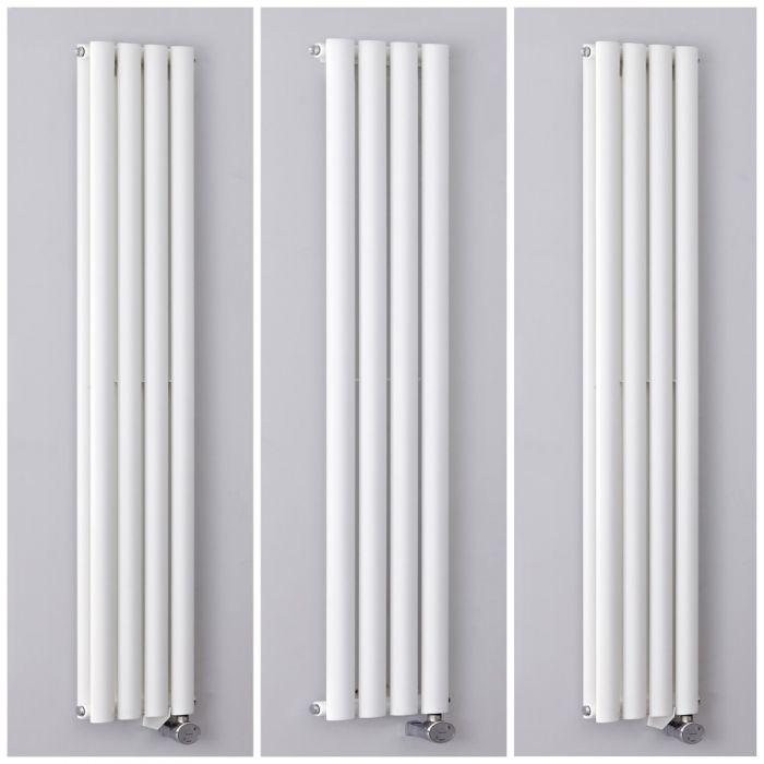Milano Aruba Electric - 236mm White Vertical Designer Radiator - All Sizes