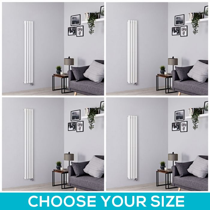 Milano Aruba Electric - 236mm White Vertical Designer Radiator - All Sizes