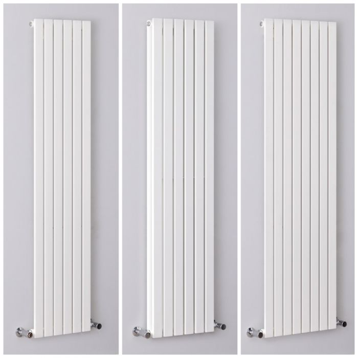 Milano Capri - White Flat Panel Vertical Designer Radiator - All Sizes