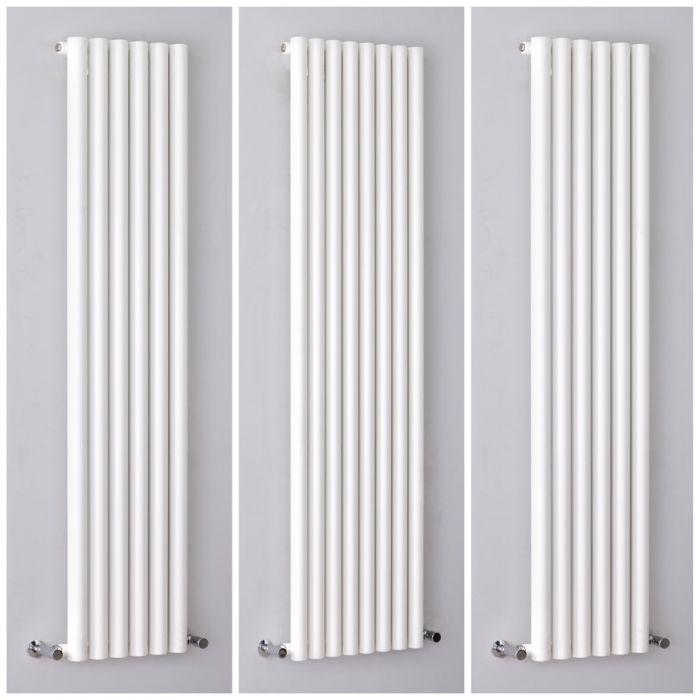 Milano Java - White Vertical Designer Radiator - All Sizes
