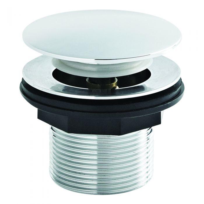 Milano Select - Modern Push Button Bath Waste - Chrome
