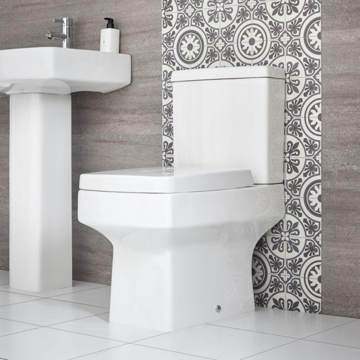 Milano Farington - Modern Close Coupled Toilet with Soft Close Seat