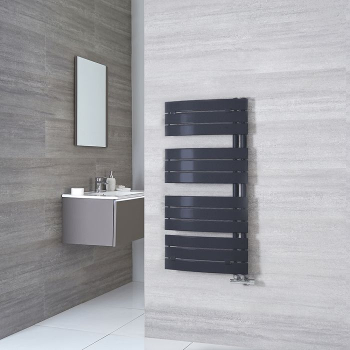 Milano Azore - Anthracite Designer Heated Towel Rail - 1080mm x 550mm