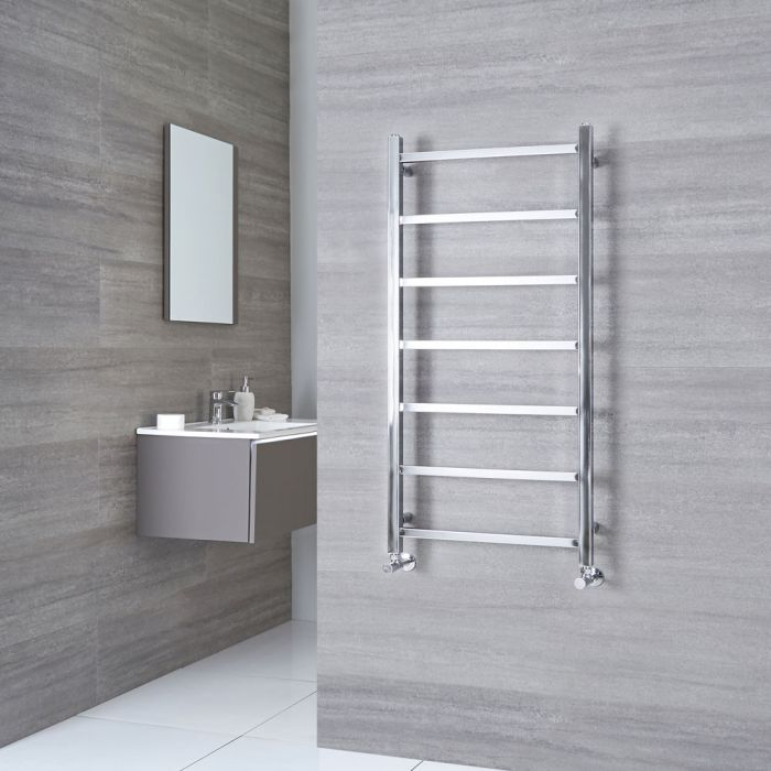 Milano Select - Chrome Designer Heated Towel Rail - 1200mm x 600mm