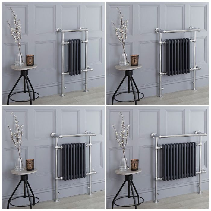 Milano Elizabeth - Anthracite Traditional Electric Heated Towel Rail - Choice of Size
