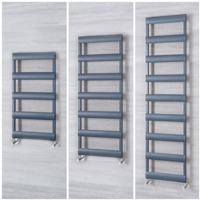 Milano Passo - Aluminium Anthracite Heated Towel Rail - Choice of Size