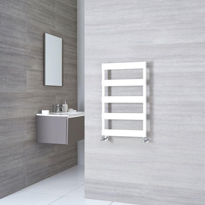 Milano Passo - Aluminium White Heated Towel Rail - 790mm x 500mm