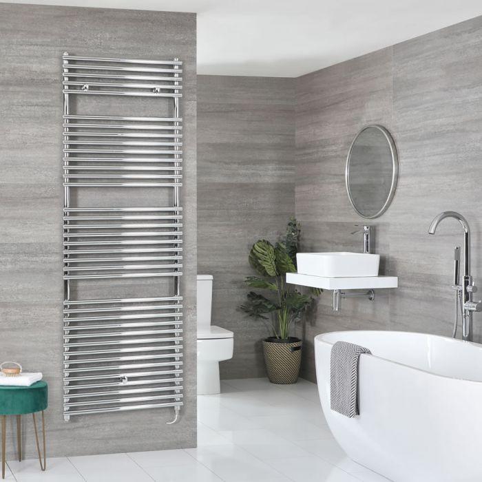Milano Arno Electric - Chrome Bar on Bar Heated Towel Rail - 1738mm x 450mm