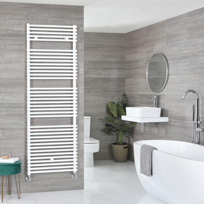 Milano Arno - White Bar on Bar Heated Towel Rail - 1738mm x 450mm