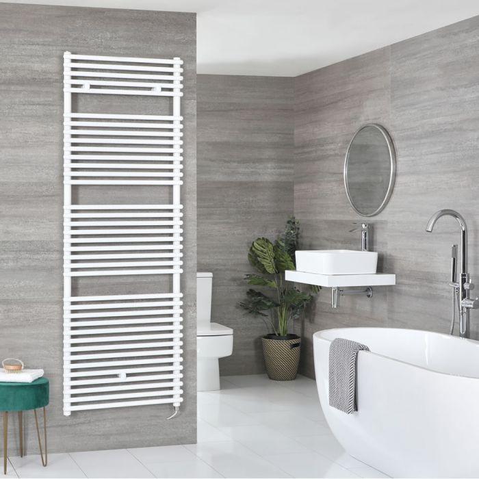 Milano Arno Electric - White Bar on Bar Heated Towel Rail - 1738mm x 450mm