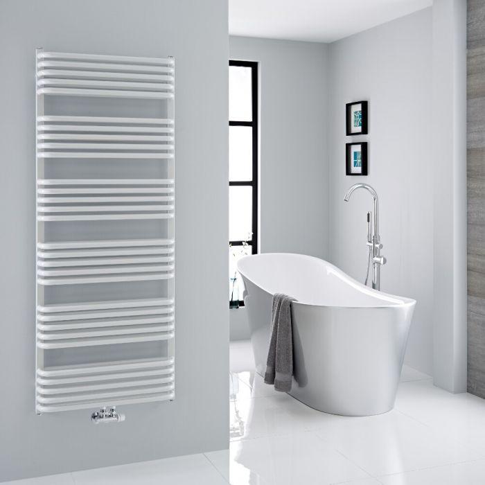Milano Bow - White D-Bar Heated Towel Rail - 1533mm x 600mm