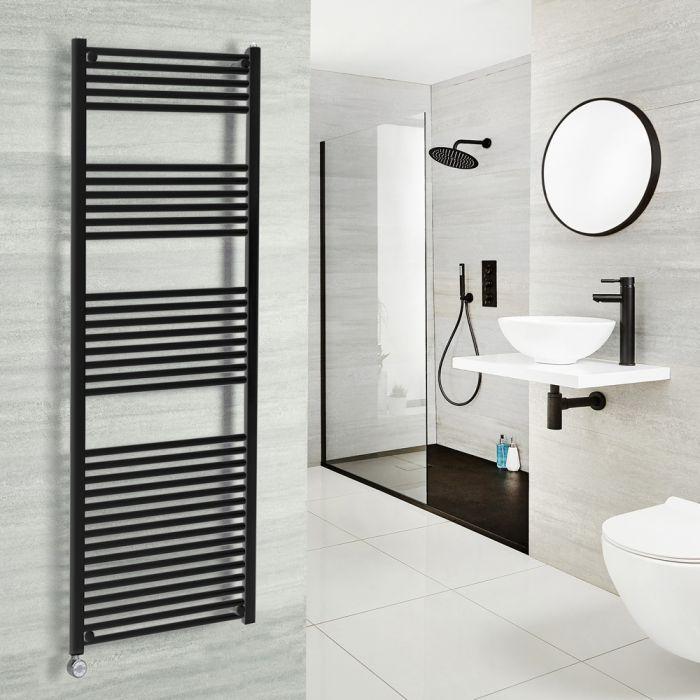 Milano Nero Electric - Black Heated Towel Rail - 1500mm x 600mm