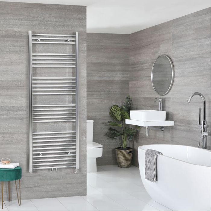Milano Neva Electric - Chrome Heated Towel Rail - 1600mm x 500mm