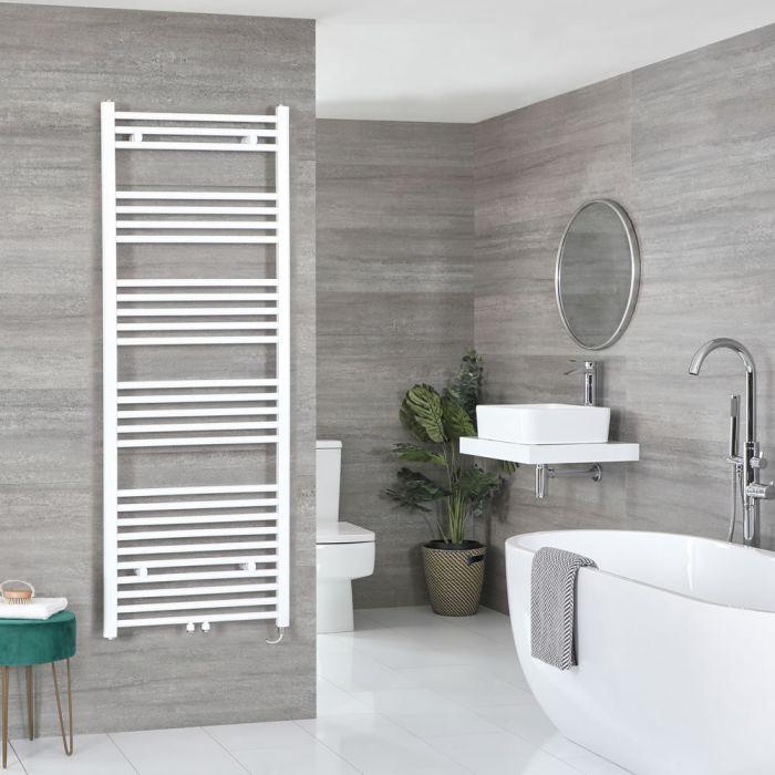 Milano Neva Electric - White Heated Towel Rail - 1600mm x 500mm