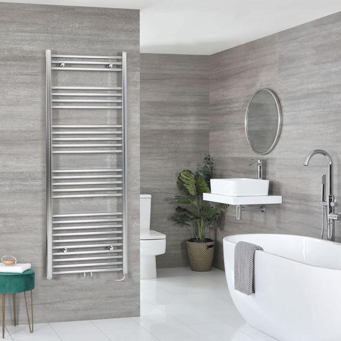 Milano Neva Electric - Chrome Heated Towel Rail - 1600mm x 600mm