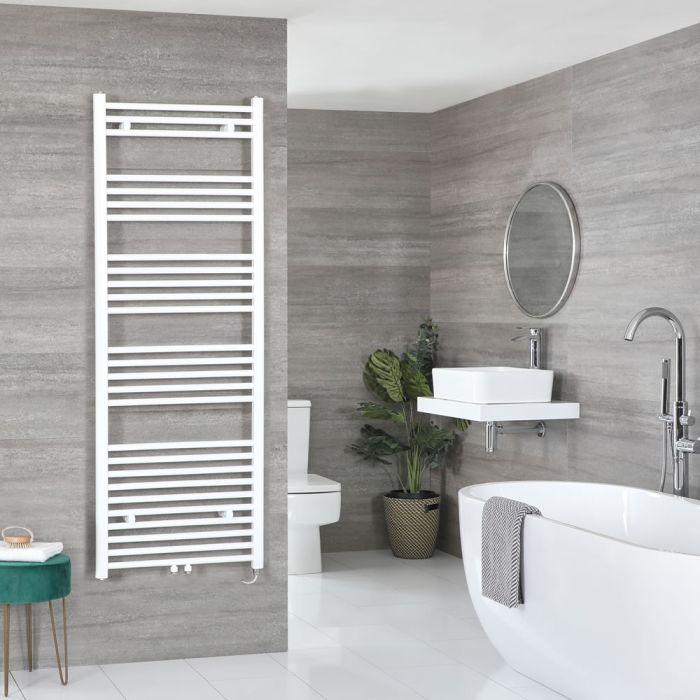 Milano Neva Electric - White Heated Towel Rail - 1600mm x 600mm