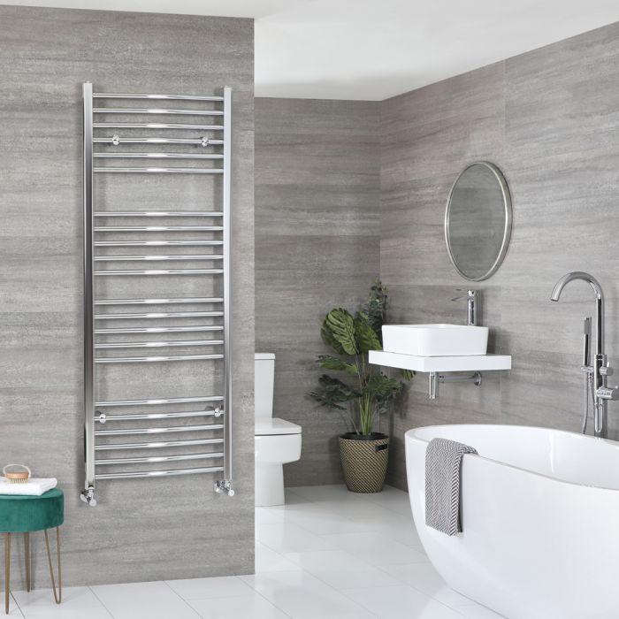 Milano Kent - Chrome Curved Heated Towel Rail - 1600mm x 600mm