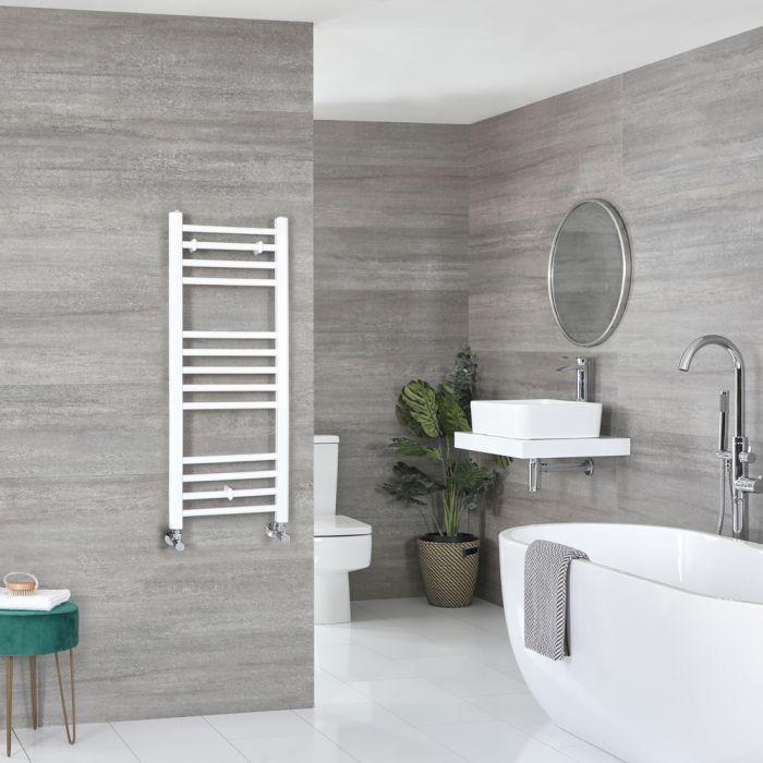 Milano Ive - White Flat Heated Towel Rail - 1000mm x 400mm