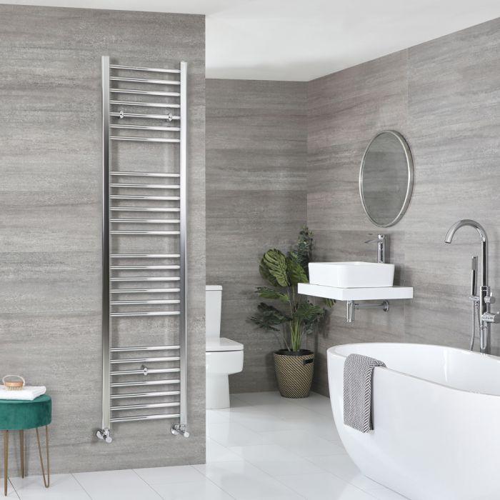 Milano Kent - Chrome Flat Heated Towel Rail - 1800mm x 400mm