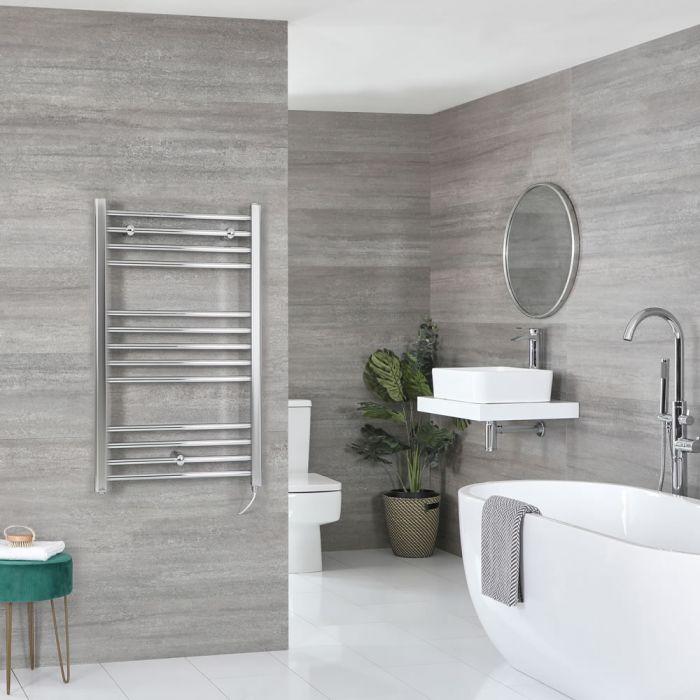 Milano Kent Electric - Chrome Flat Heated Towel Rail - 1000mm x 500mm