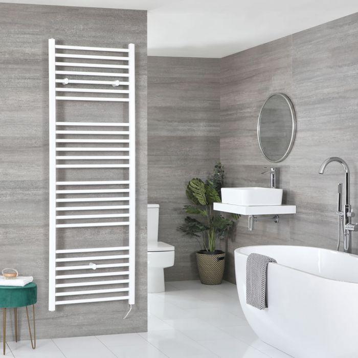 Milano Ive Electric - White Flat Heated Towel Rail - 1800mm x 500mm