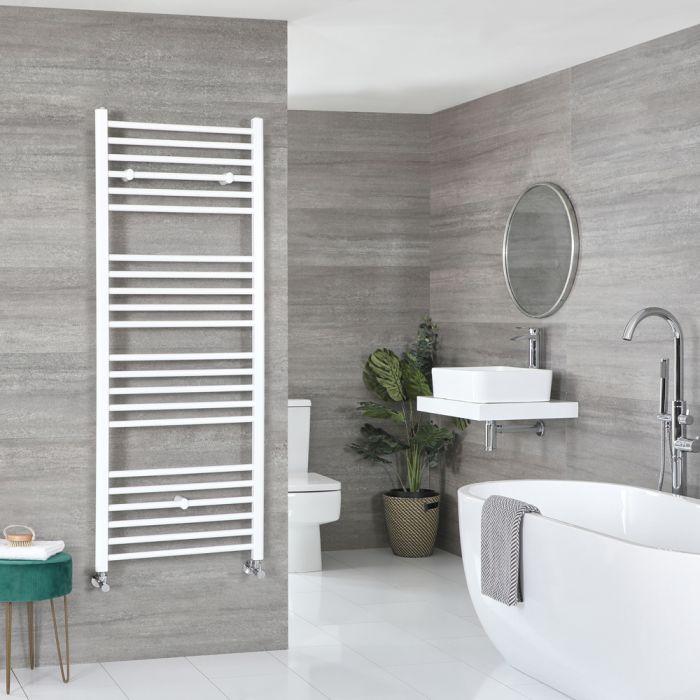 Milano Ive - White Flat Heated Towel Rail - 1600mm x 600mm