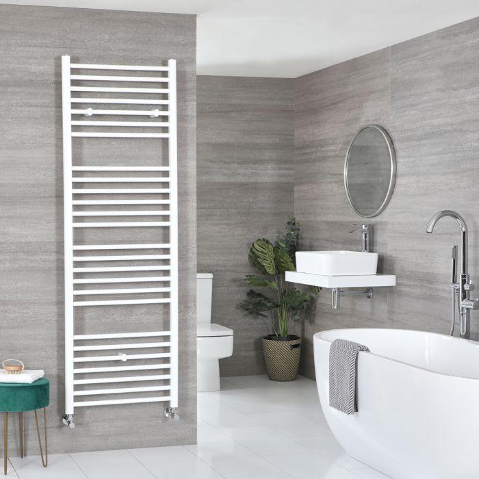 Milano Ive - White Flat Heated Towel Rail - 1800mm x 600mm