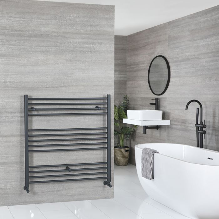 Milano Artle - Anthracite Flat Heated Towel Rail - 1000mm x 1000mm