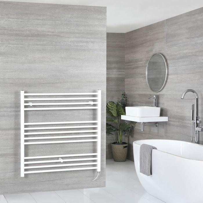 Milano Ive Electric - White Flat Heated Towel Rail - 1000mm x 1000mm