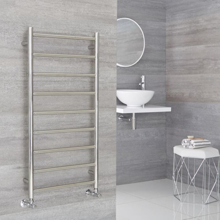 Milano Esk - Stainless Steel Flat Heated Towel Rail - 1000mm x 500mm