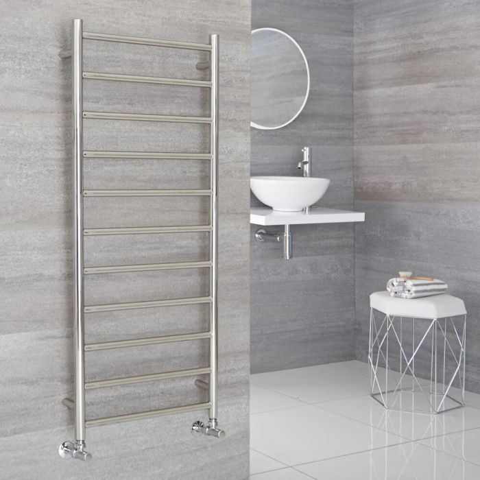 Milano Esk - Stainless Steel Flat Heated Towel Rail - 1200mm x 500mm