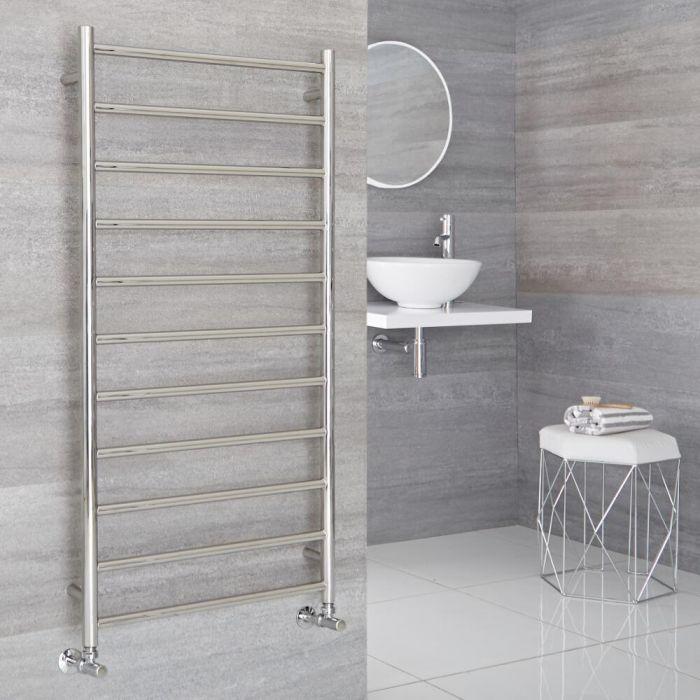 Milano Esk - Stainless Steel Flat Heated Towel Rail - 1200mm x 600mm
