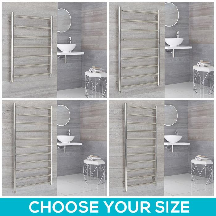 Milano Esk Electric - Stainless Steel Heated Towel Rail - Choice of Size