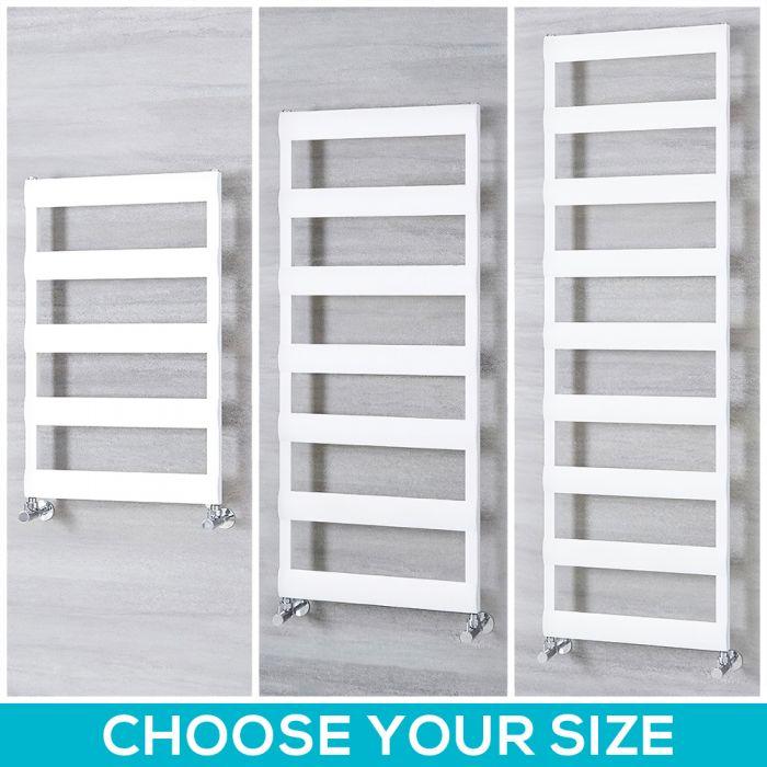 Milano Passo - Aluminium White Heated Towel Rail - Choice of Size