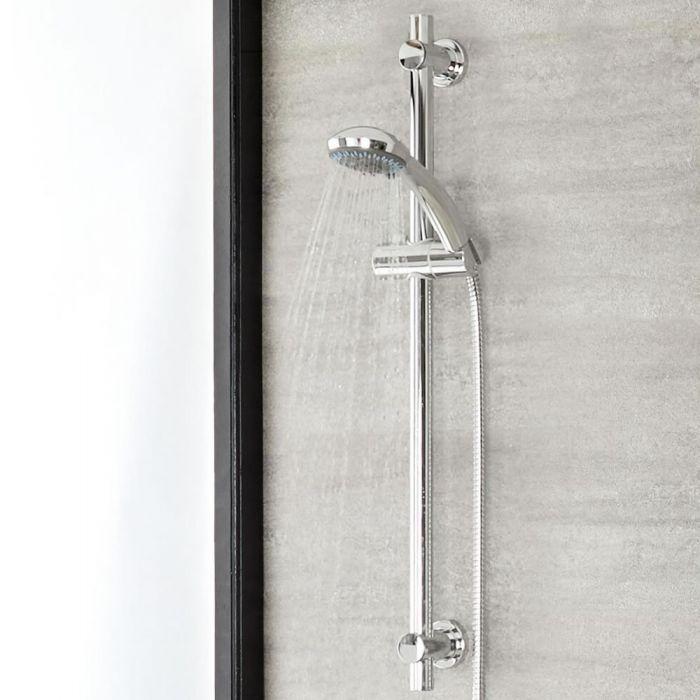 Milano Select - Modern Riser Rail Kit with Multifunction Hand Shower - Chrome
