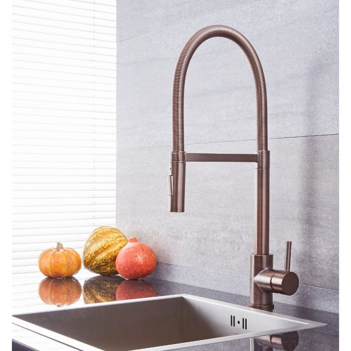 Milano Mirage - Modern Kitchen Mixer Tap with Pull Out Spout - Oil Rubbed Bronze