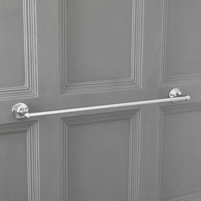 Milano Elizabeth - Traditonal Single Towel Rail - Chrome