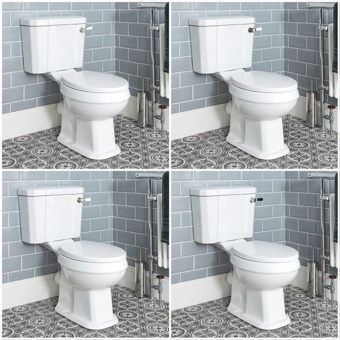 Milano Richmond - Traditional Close Coupled Toilet - Choice of Flush Lever