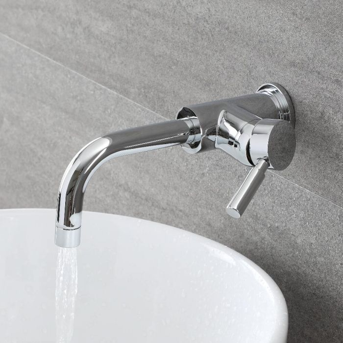 Milano Mirage - Modern Wall Mounted Basin Tap