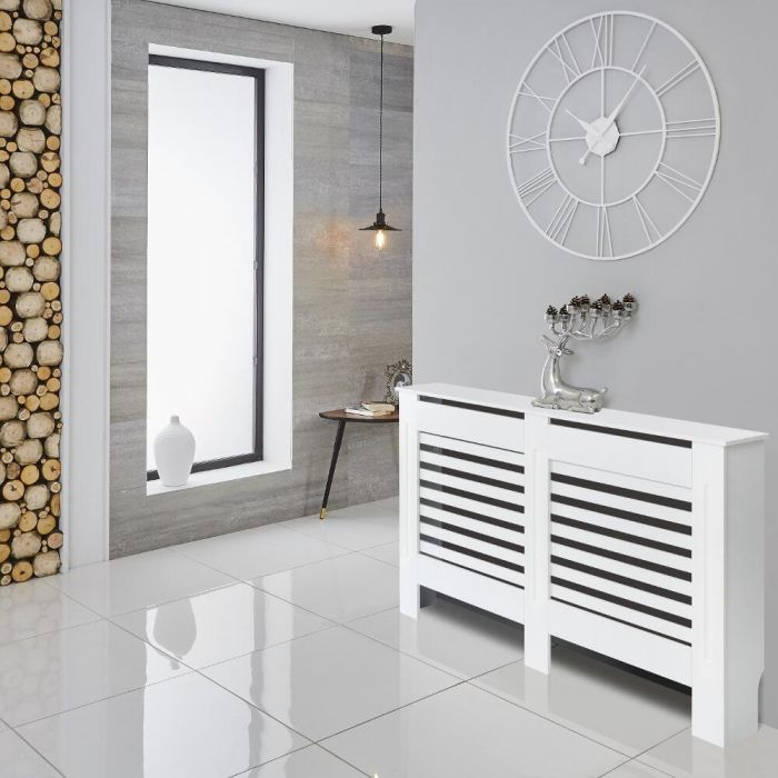 Milano Elstree - White Radiator Cabinet - 815mm x 1520mm
