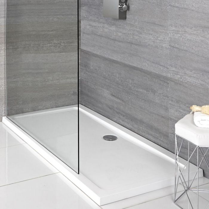 Milano Lithic - Low Profile Rectangular Shower Tray - 900mm x 800mm