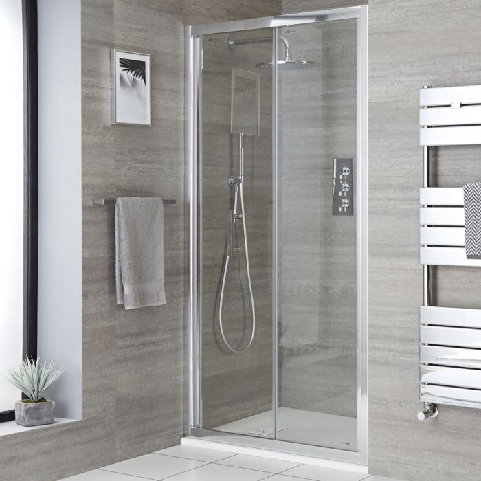 Milano Portland - Recessed Bi-Fold Shower Door with Slate Tray - Choice of Sizes