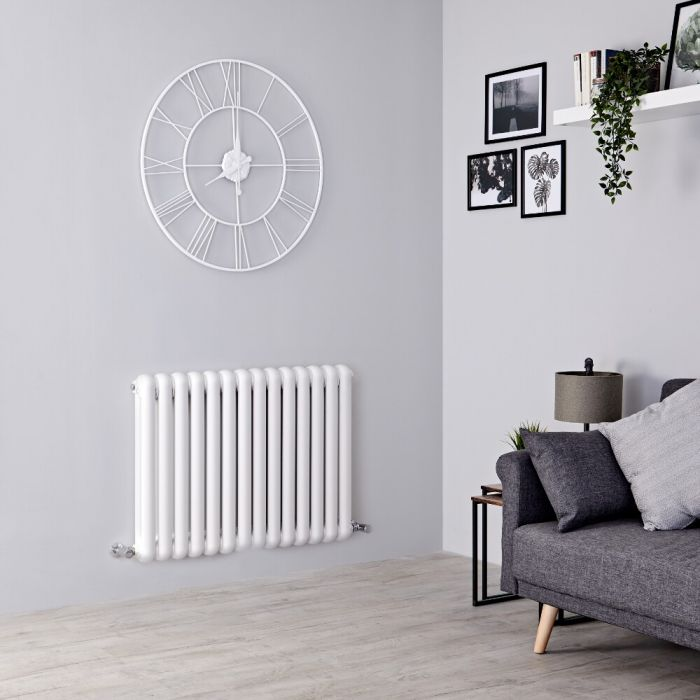 Milano Urban - White Horizontal Column Radiator - 635mm x 863mm (Double Column)