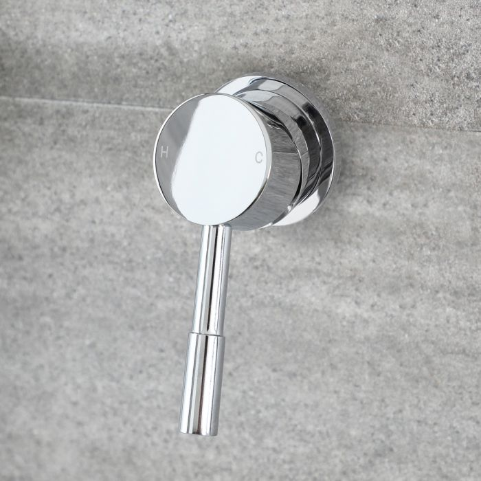Milano Mirage - Modern Round Manual Shower Valve - One Outlet - Chrome