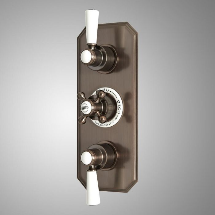 Milano Elizabeth - Traditional Concealed Thermostatic Triple Diverter Shower Valve - Oil Rubbed Bronze
