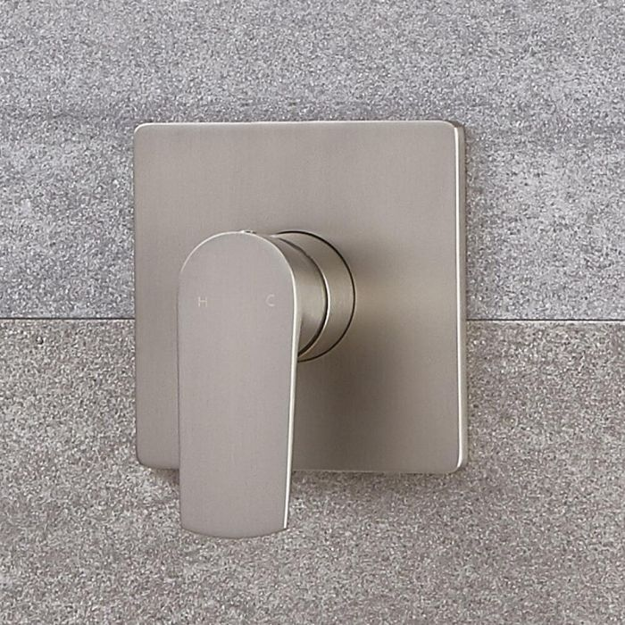 Milano Hunston - Modern Manual Shower Valve - One Outlet - Brushed Nickel