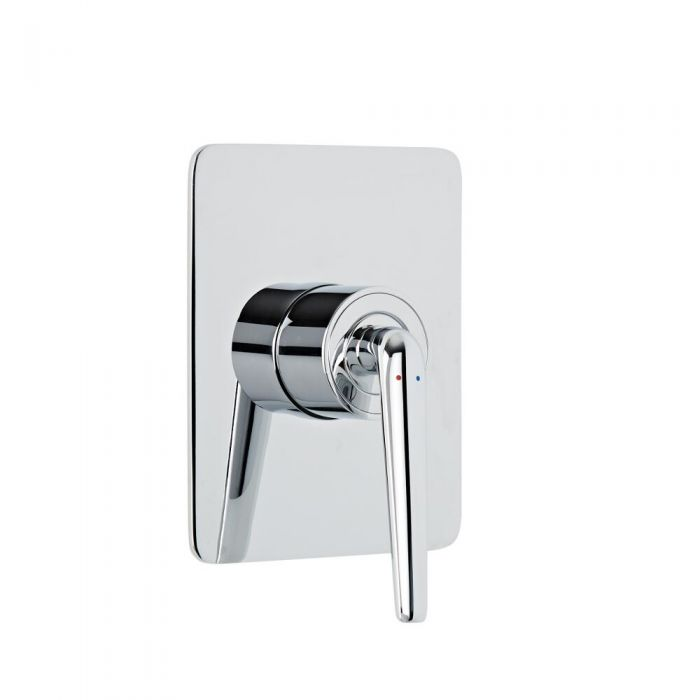 Milano Vora - Modern Manual Shower Valve - 1 Outlet - Chrome